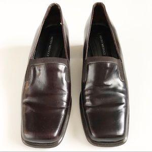 Sesto Meucci Shoes - Sesto Meucci Square Toe Leather Block Heel 7.5 M